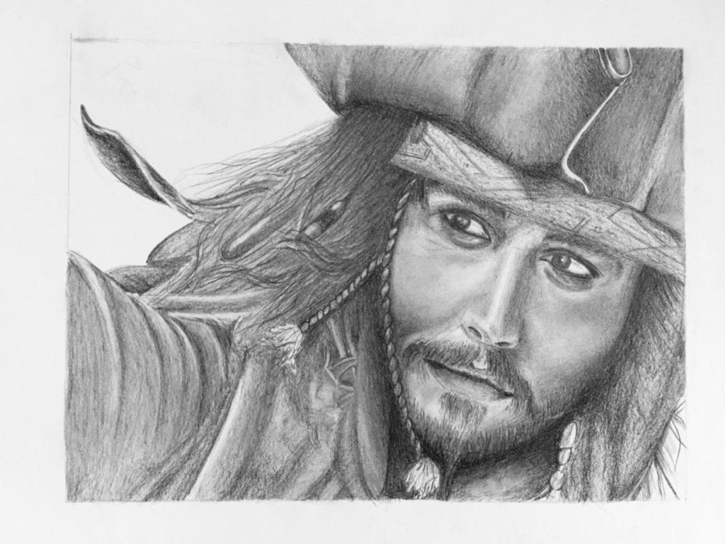Jack Sparrow drawing - 1