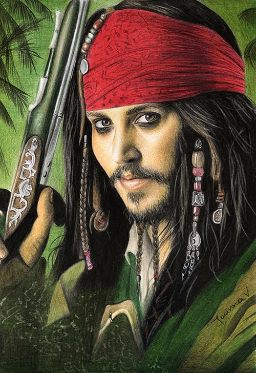Jack Sparrow drawing - 3