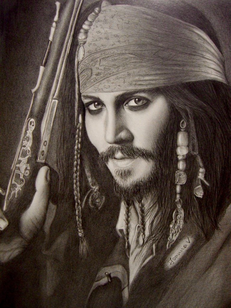 Jack Sparrow drawing - 2