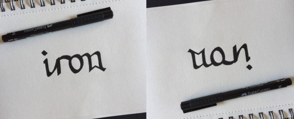 Iron Man Ambigram