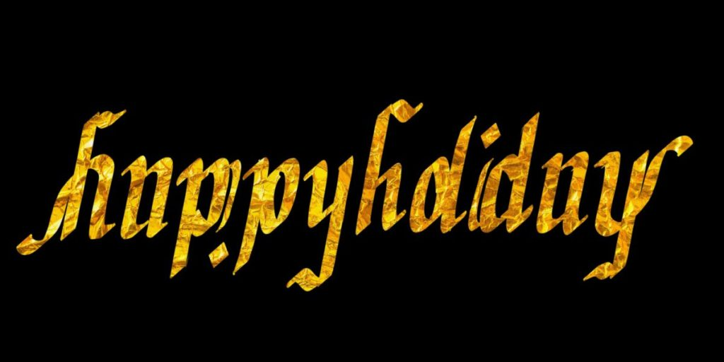 Happy Holidays ambigram