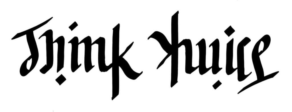 Think Twice Ambigram