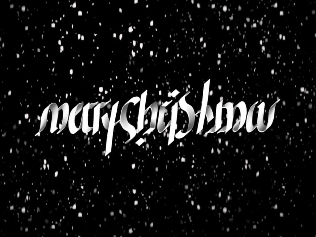 Merry Christmas ambigram