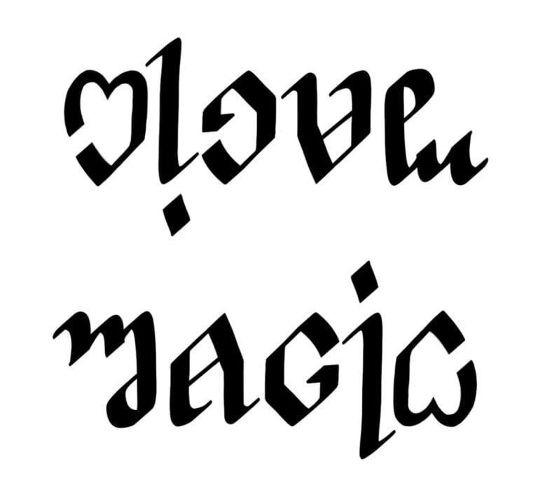 Love - Magic Ambigram
