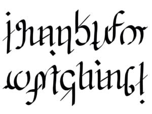 Thank you for watching ambigram