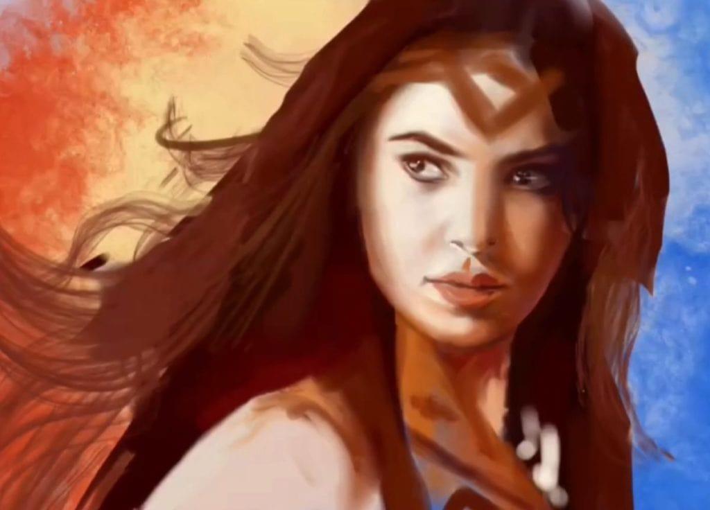 Painting Wonderwoman