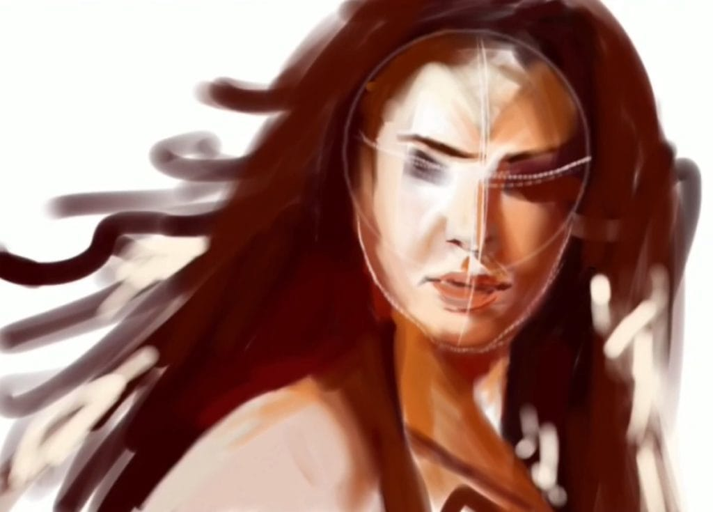 Painting WonderWoman