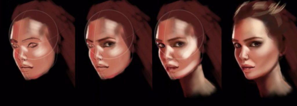 Portrait painting steps