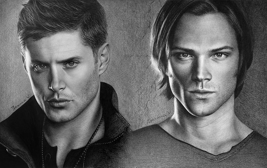 Traditional drawing - Supernatural