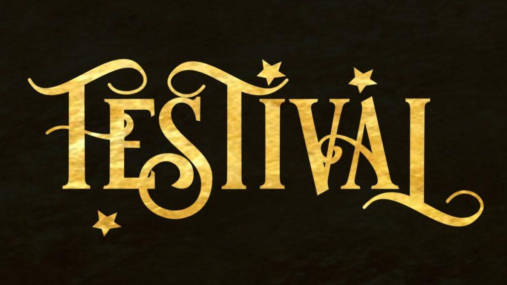 Festival Font - Gold Foil texture