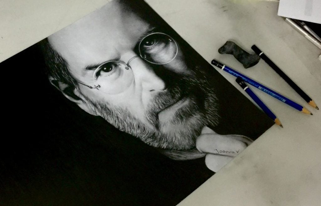 Steve Jobs drawing