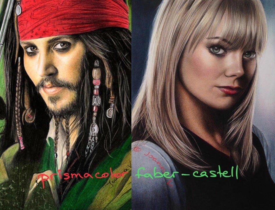 prismacolor vs Faber-Castell. Brightness.