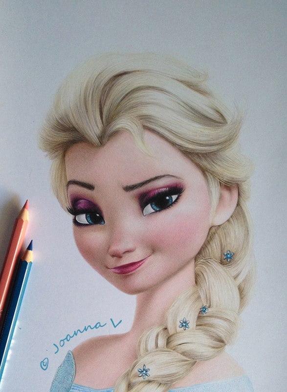 Elsa - Artist grade pencils