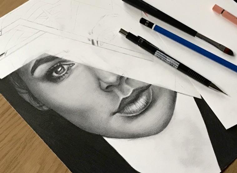 Drawing the WonderWoman/graphite parts