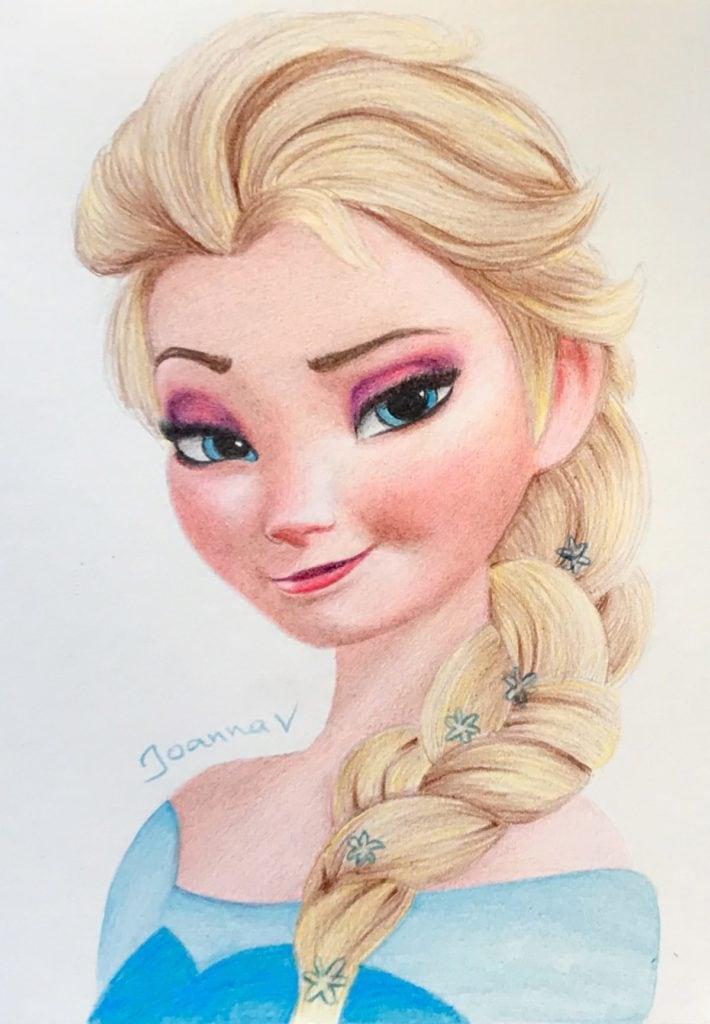 Elsa - kid's pencils - final
