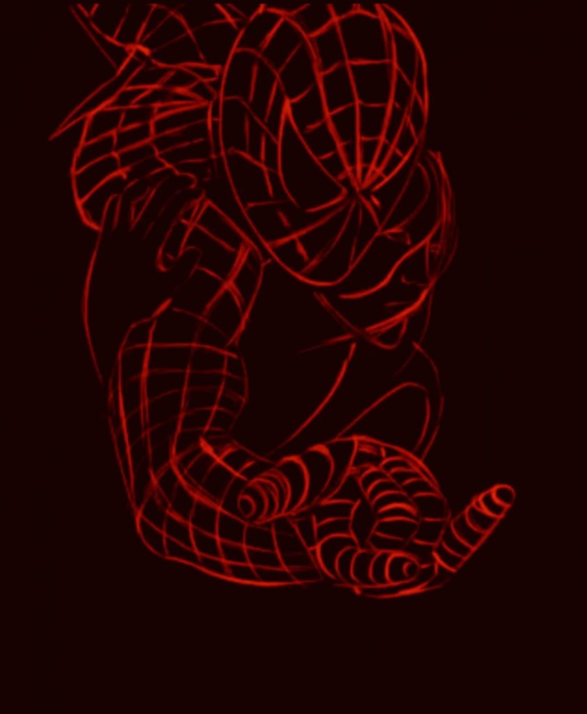 Painting Spider-Man - sketch