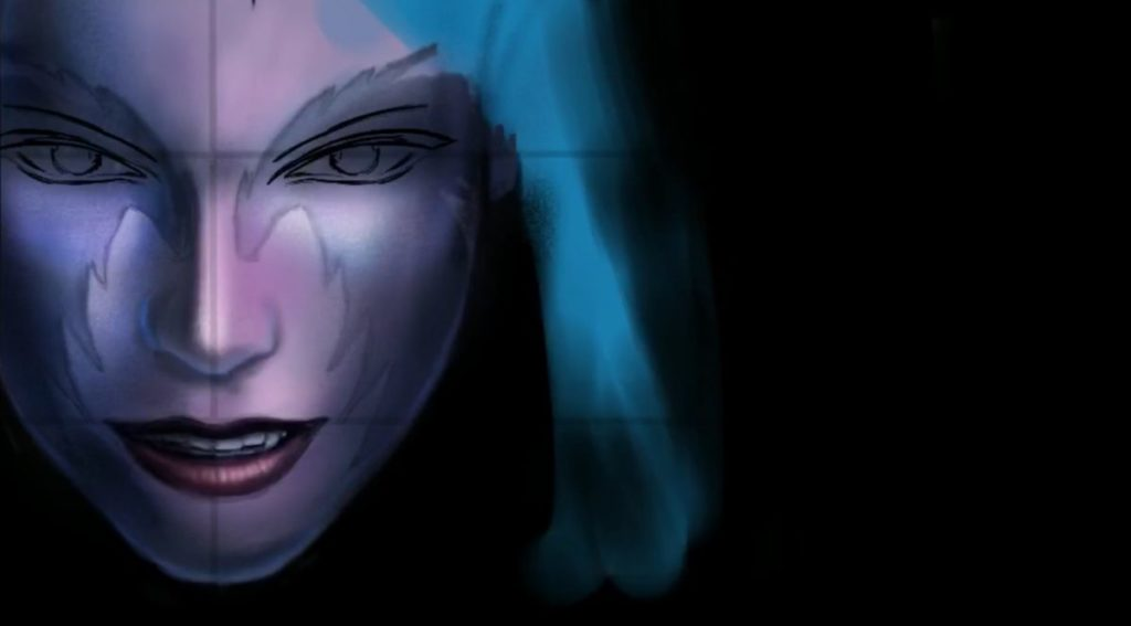 Painting a Night Elf - details and basic shading