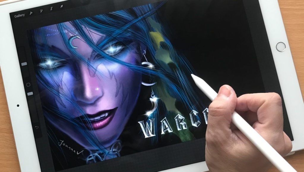 Painting a Night Elf from WOW - random shot