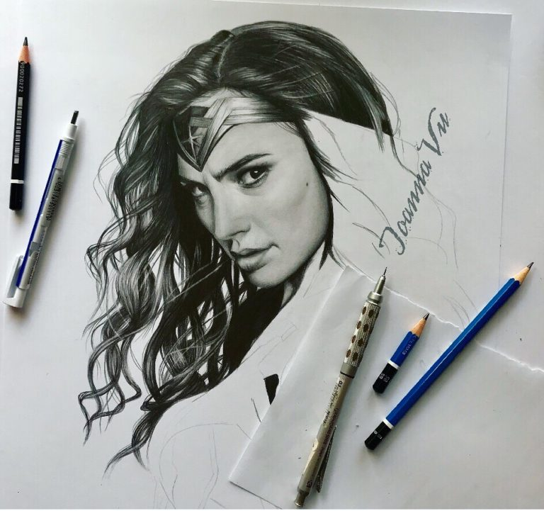WonderWoman drawing