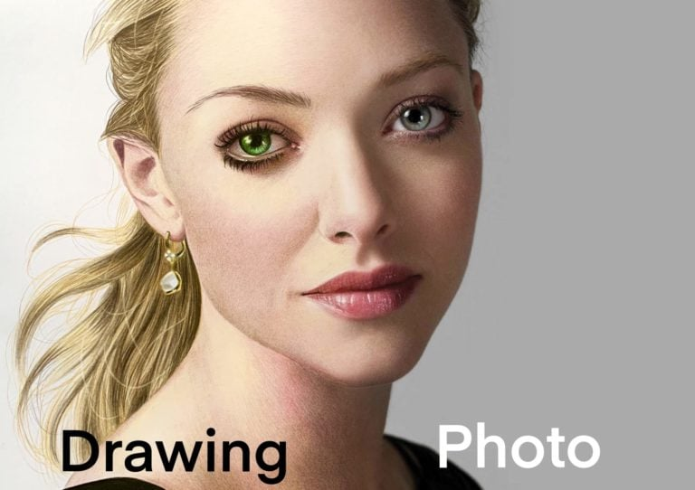 Realistic skin with colored pencils
