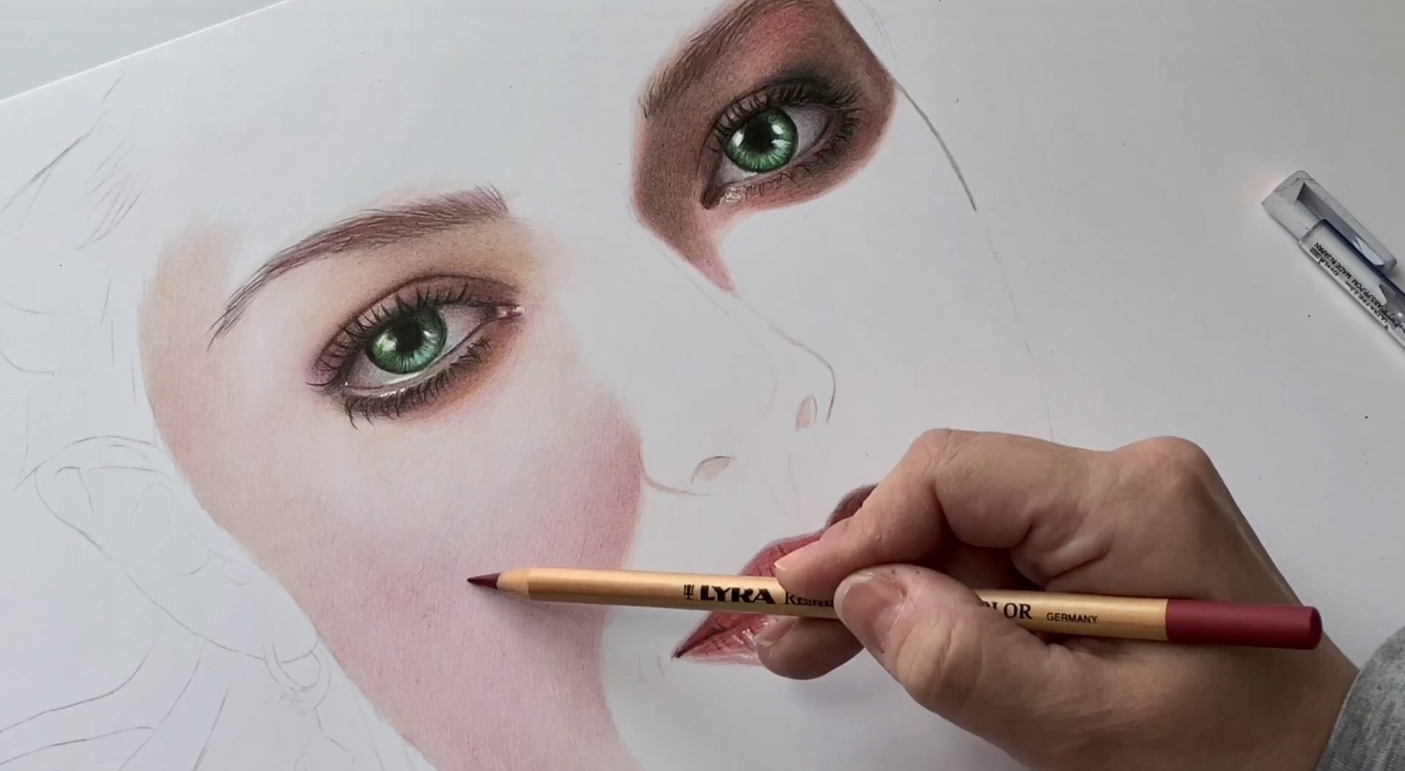 tutorial drawing skin tones with colored pencils ioanna ladopoulou art design