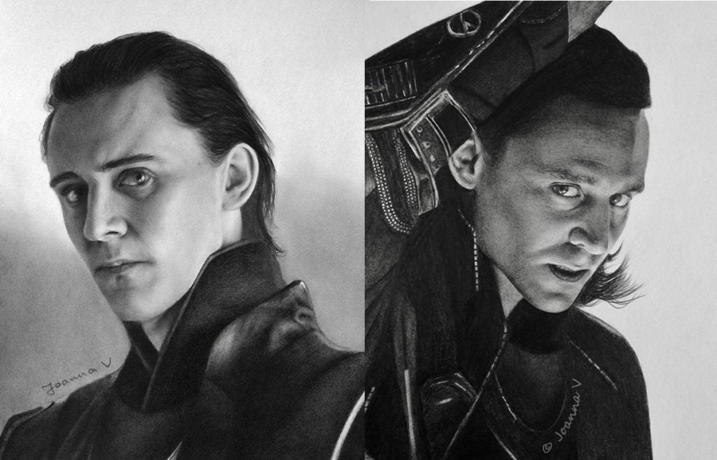 Two Toms drawn in 2013 and 2014 respectively
