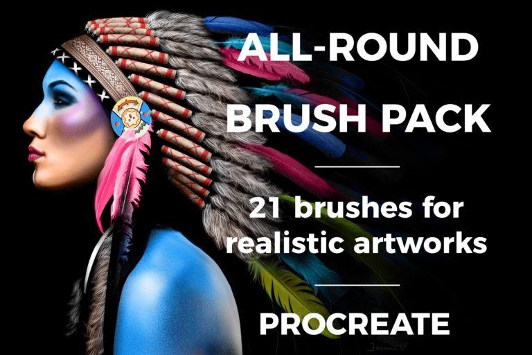 All-round Brush Pack - procreate bushes - portfolio - Ioanna Ladopoulou