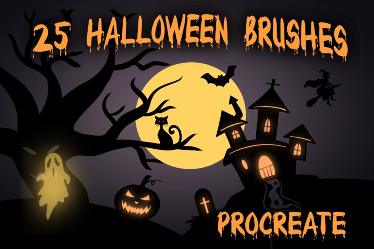 Halloween Brushes - procreate bushes - portfolio - Ioanna Ladopoulou