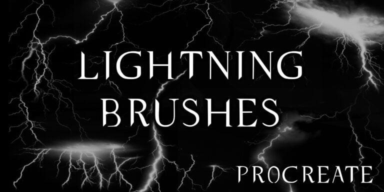 Lightning Brushes - procreate bushes - portfolio - Ioanna Ladopoulou