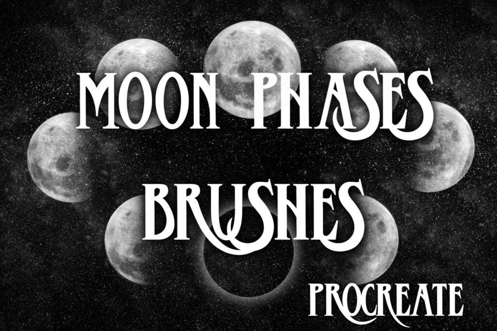 Moon Phases Brushes - procreate bushes - portfolio - Ioanna Ladopoulou