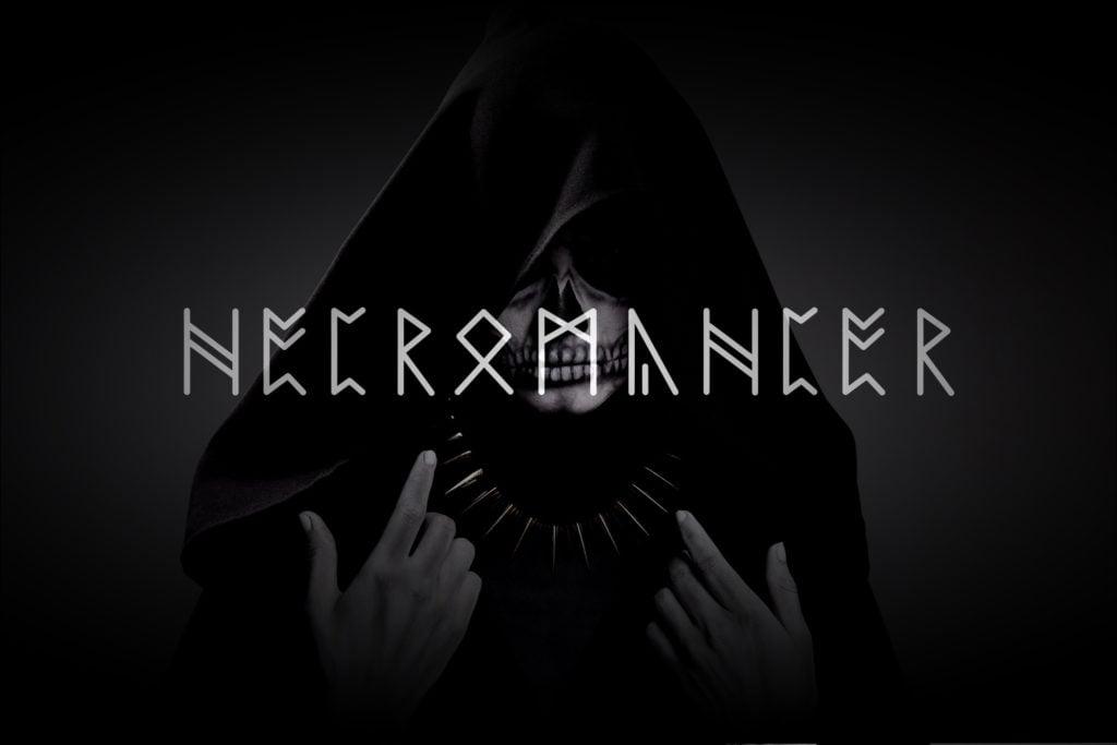 Necromancer - fonts - portfolio - Ioanna Ladopoulou
