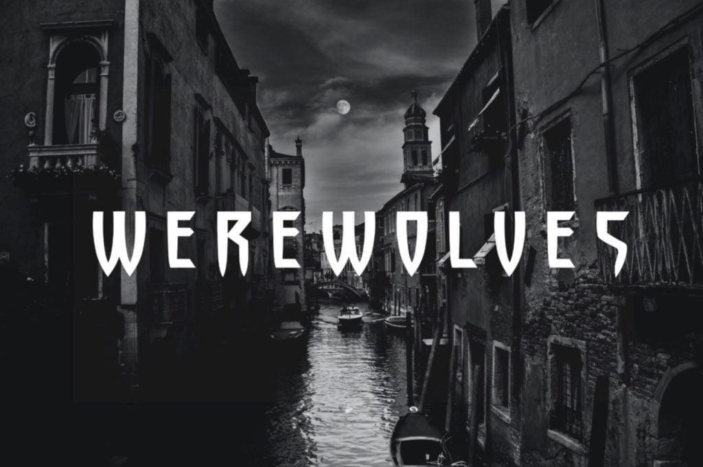 Werewolves - fonts - portfolio - Ioanna Ladopoulou