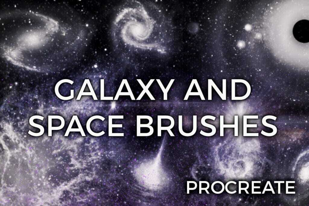 Galaxy and Space Brushes - procreate bushes - portfolio - Ioanna Ladopoulou