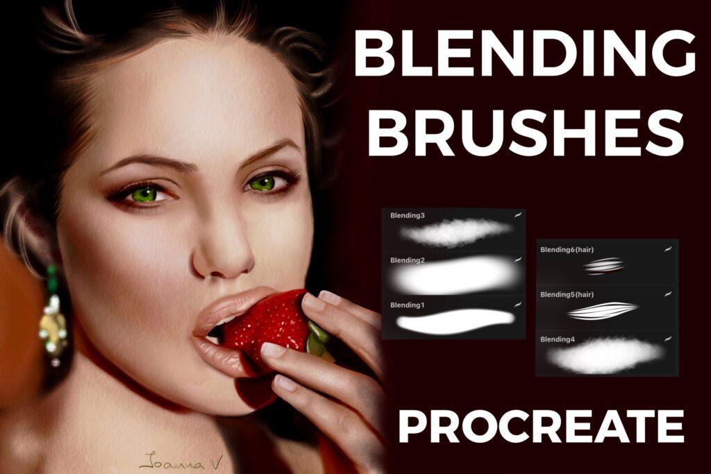 Blending Brushes - procreate bushes - portfolio - Ioanna Ladopoulou