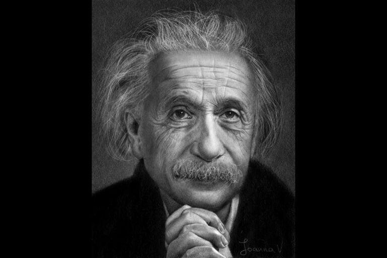Albert Einstein - procreate painting - portfolio - Ioanna Ladopoulou