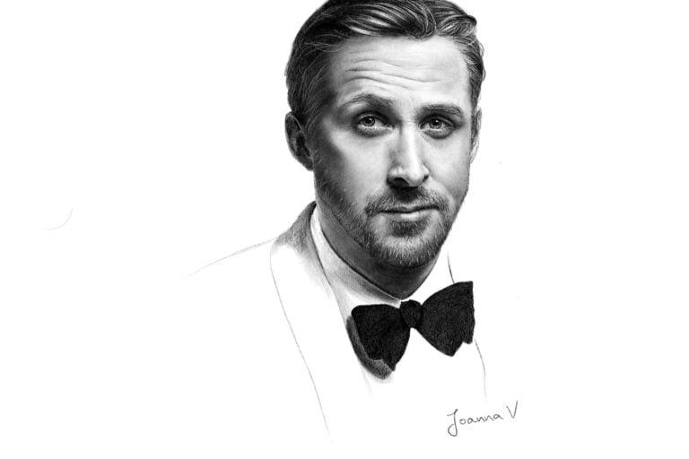 Ryan Reynolds - procreate painting - portfolio - Ioanna Ladopoulou