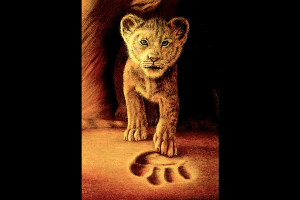 Simba (The lion King) - colored pencils - portfolio - Ioanna Ladopoulou