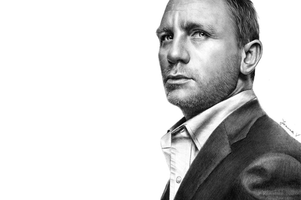 Daniel Craig - procreate drawing - portfolio - Ioanna Ladopoulou