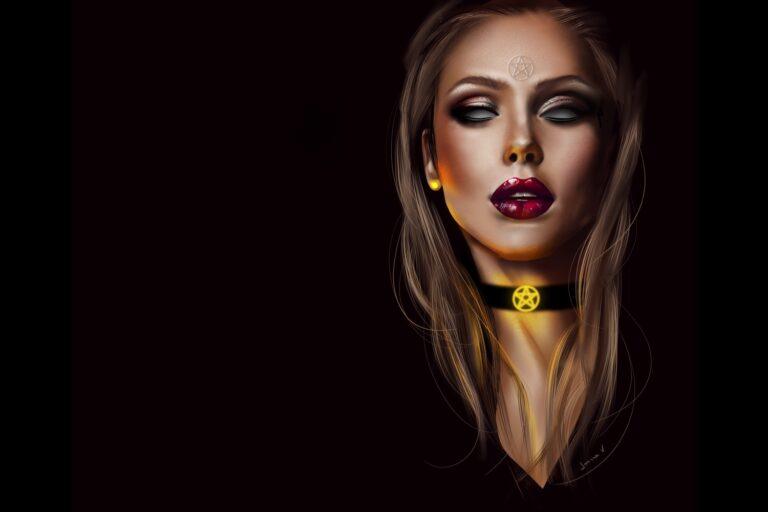 Witch - procreate painting - portfolio - Ioanna Ladopoulou