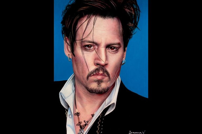 Johnny Depp - colored pencils - portfolio - Ioanna Ladopoulou