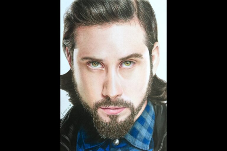 Avi Kaplan - colored pencils - portfolio - Ioanna Ladopoulou