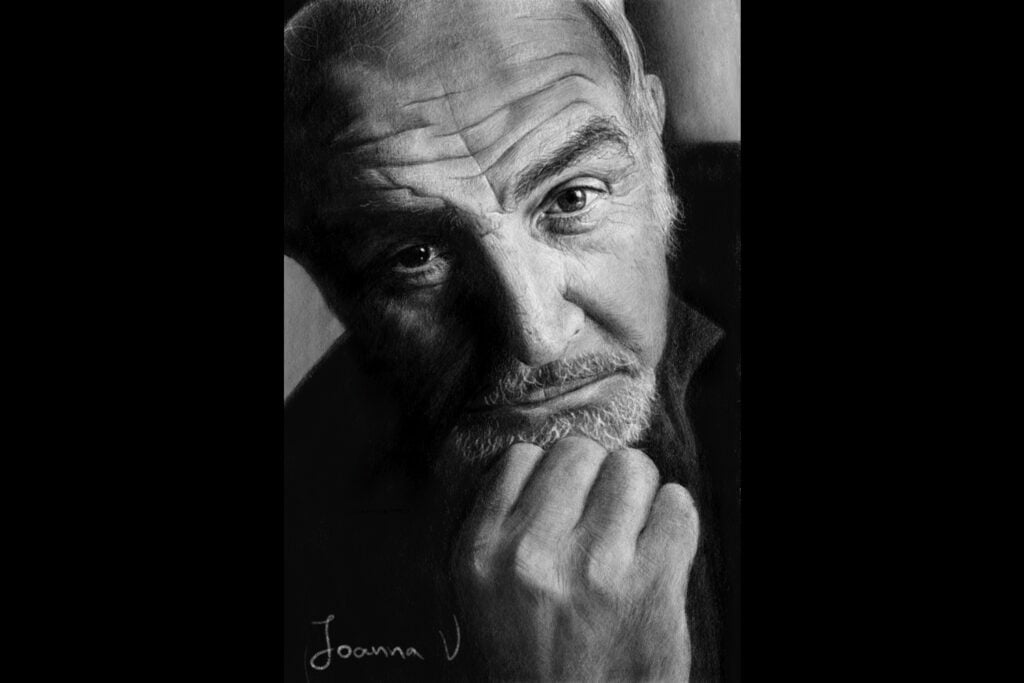 Sean Connery - procreate drawing - portfolio - Ioanna Ladopoulou