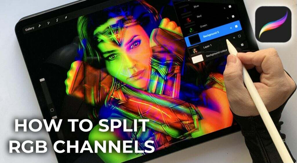 How to split RGB channels in procreate