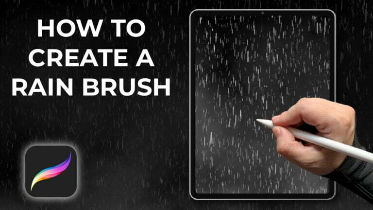 How to create a rain brush in procreate